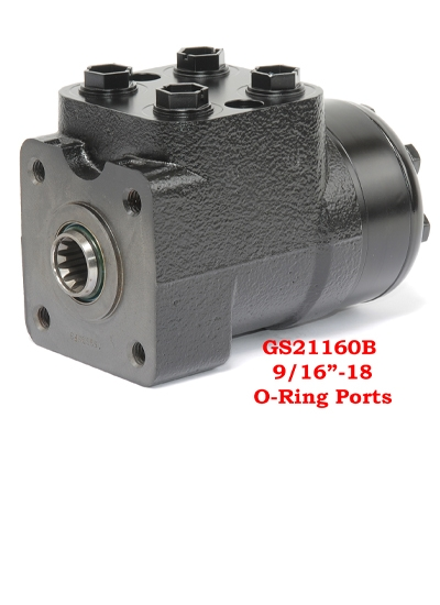 "GS21160B Steering Valve9.67 Cu. Inch Steering Valve- Non Load Reaction, 9/16""-18 Ports"